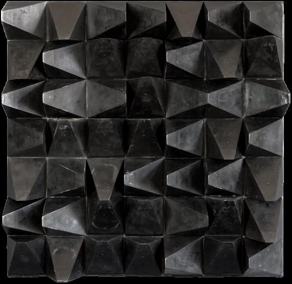 Polyeder, 2016, 60,5 x 60,5 x 14 cm, Holz, Paraffin
