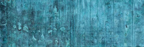 Korrosion Patina, 2013, 60 x 180 cm, Holz, Kupferblech patiniert