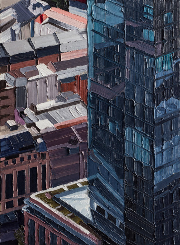 Frankfurt #03, 2014, 54 x 40 cm, Nessel auf Keilrahmen, Ölfarbe