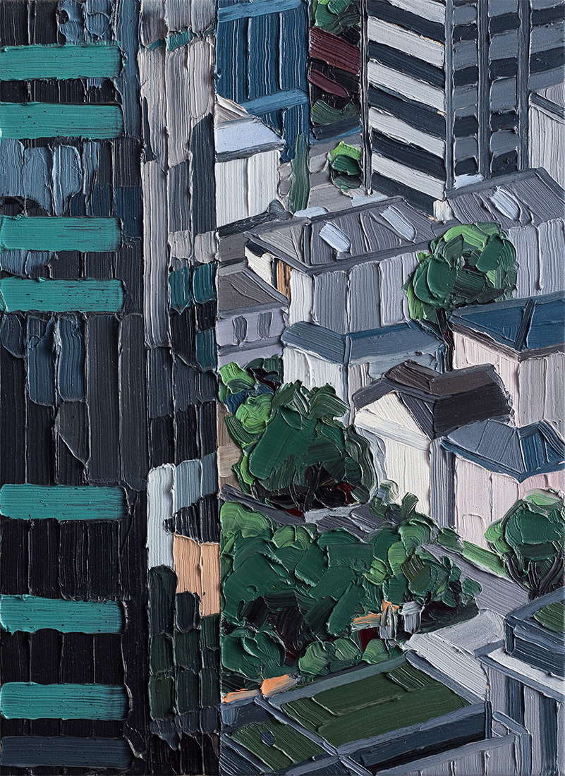 Frankfurt #04, 2014, 54 x 40 cm, Nessel auf Keilrahmen, Ölfarbe