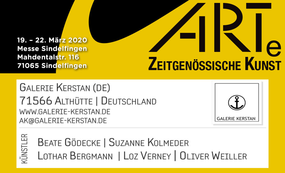 ARTe Sindelfingen 2020, Galerie Kerstan feat. Oliver Weiller u.a.