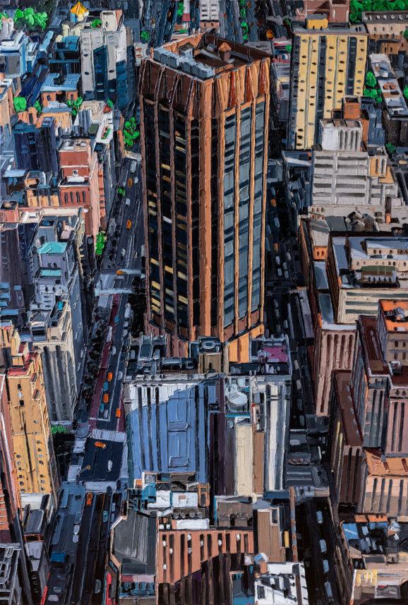 NYC E34th St. Park Ave. II, 2020, 190 x 130 cm, Nessel auf Keilrahmen, Ölfarbe